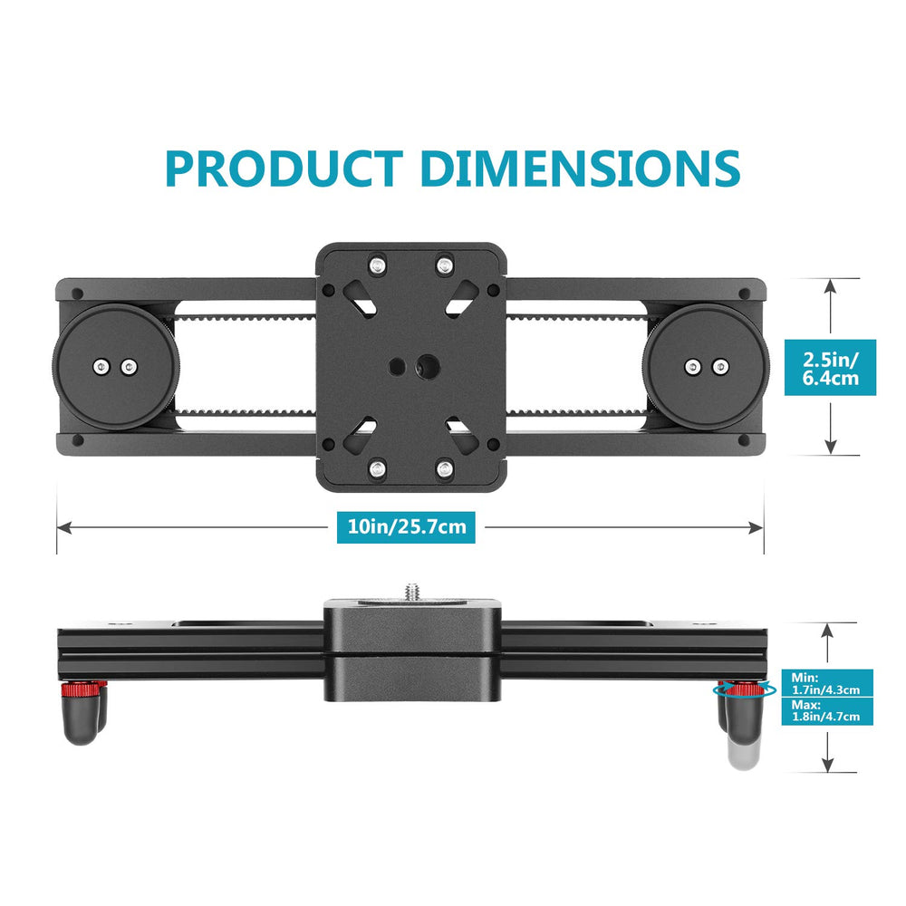 Neewer Portable Mini Camera Video Slider Rail for Micro-SLR Camera