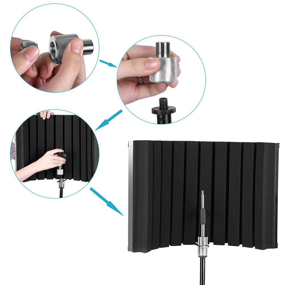 Neewer Portable Microphone Acoustic Isolation Shield - neewer.com