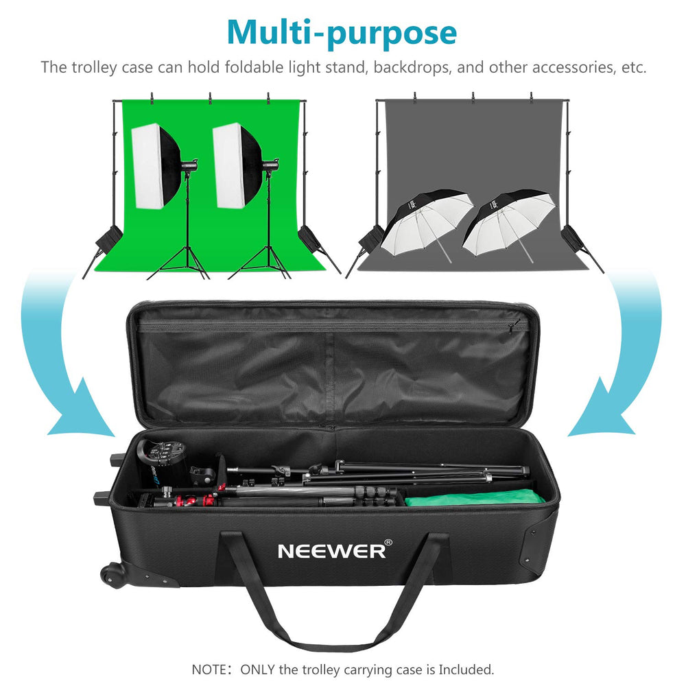 Neewer 44 inches Rolling Camera Case Anti-shock Detachable Padded Compartment