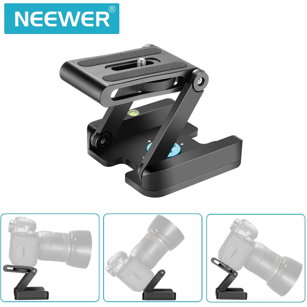 Neewer Z Flex Tilt Ball Head with Quick Shoe QR Plate Bracket for Aluminium Alloy with Bubble Level for Camcorder Tripod Guide Slide - neewer.com