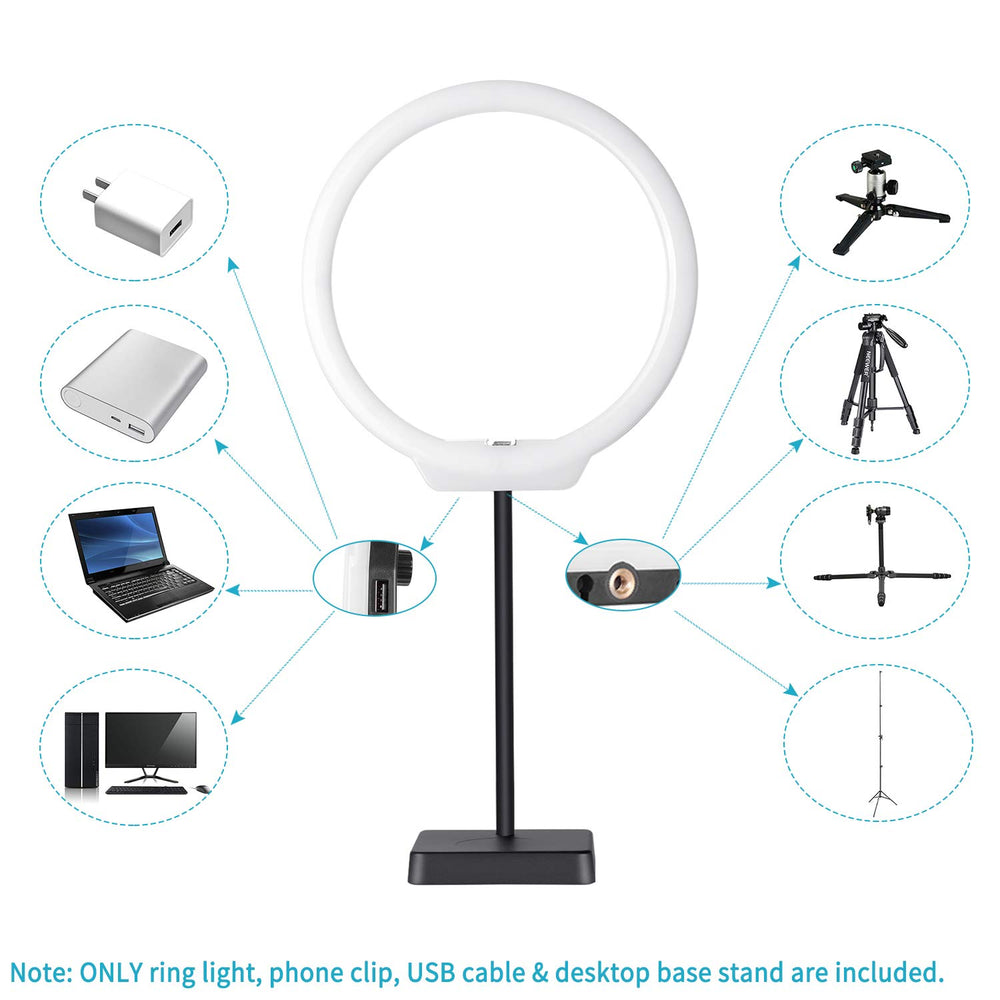 Neewer 10'' USB-Powered Dimmable Bi-color LED Ring Light Kit for Videos, Makeup, Beauty, Live Streaming - neewer.com