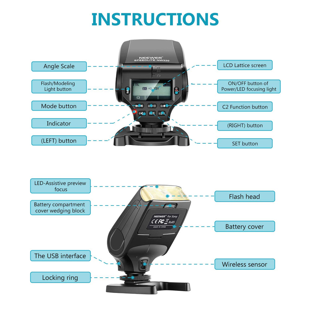 Neewer NW320 Mini TTL Speedlite Flash Automatic Flash
