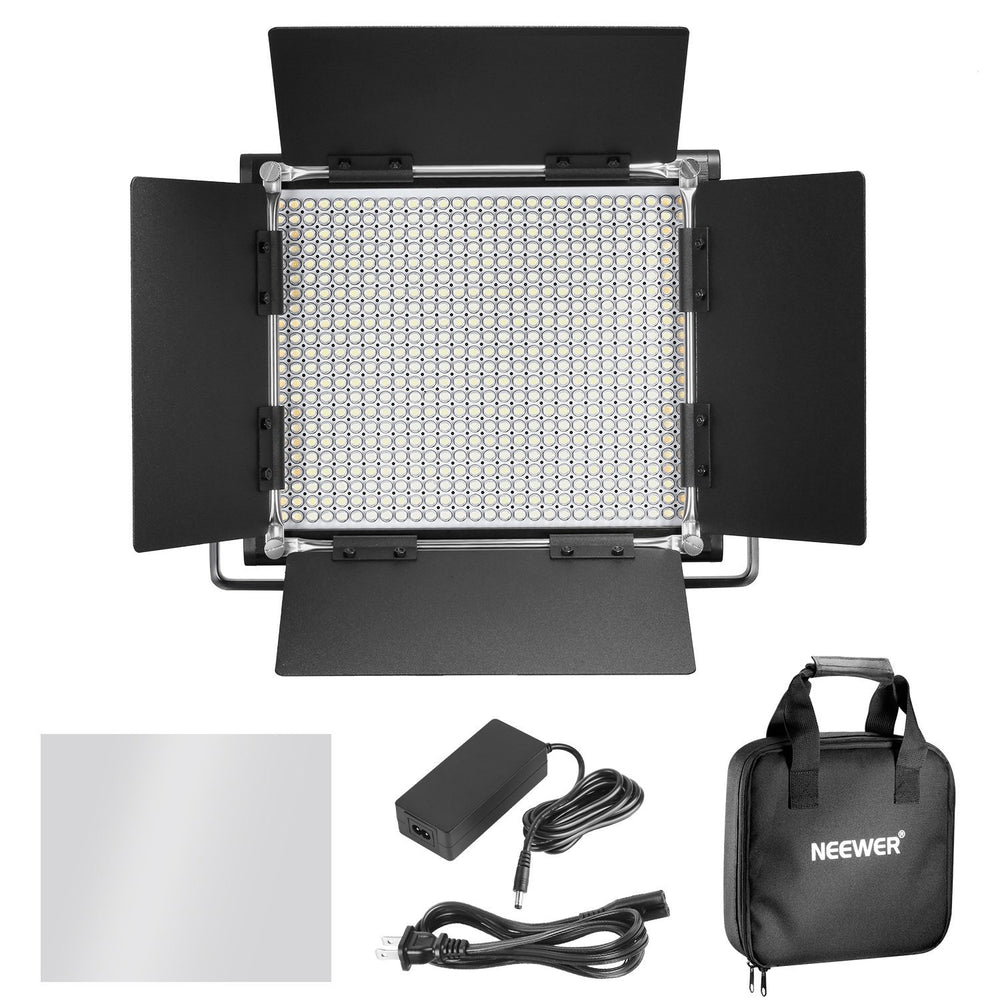 Neewer 2-Pack Dimmable Bi-Color 660 LED Video Light and Stand Lighting Kit with Large Carrying Bag - neewer.com