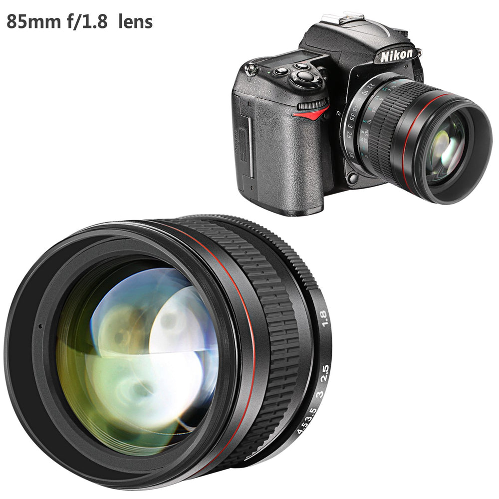 Neewer 85mm f/1.8 Portrait Aspherical Telephoto Lens for DSLR Cameras