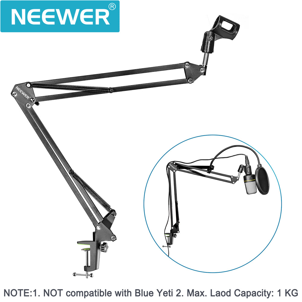 Neewer NB-35 Microphone Suspension Boom Scissor Arm Stand with Filter - neewer.com