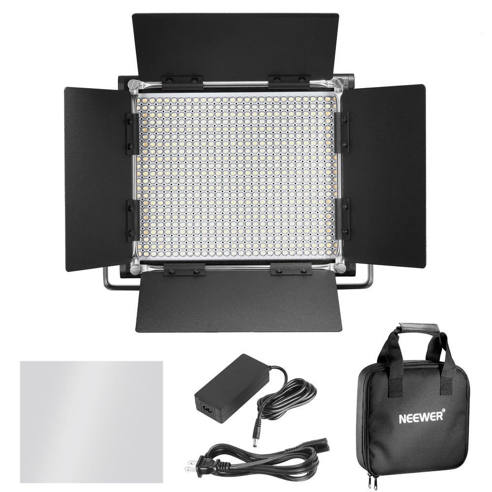 Neewer 3 Pieces Dimmable Bi-color 660 LED Video Light and Stand Kit - neewer.com