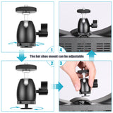 Neewer Cellphone Holder Clip Desktop Tripod Mount with Mini Ball Head