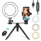 "Neewer 6"" USB LED Ring Light with Tripod Stand and Phone Holder - neewer.com"