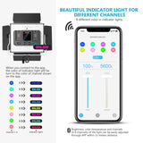 Neewer 2 Packs Metal Dimmable Bi-Color 528 LED Photography Lighting Kit with APP Intelligent Control System