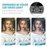 Neewer 3 Packs 528 LED Video Light with APP Intelligent Control System