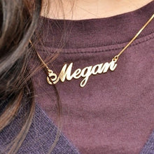 Load image into Gallery viewer, Fancy Print Name Necklace