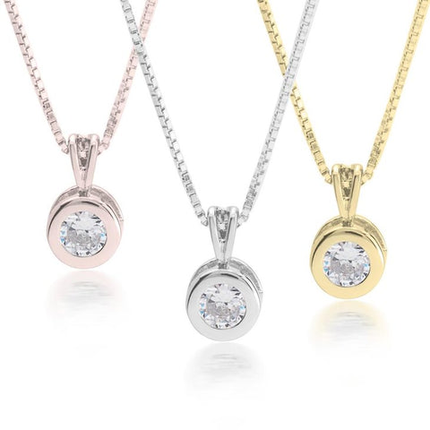 Image of CZ Solitaire Necklace