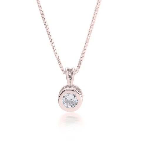 CZ Solitaire Necklace