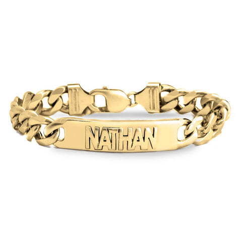 Image of Cuban Link Name Bracelet