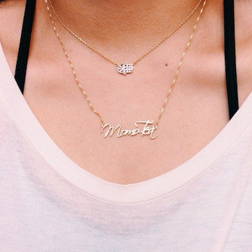 Image of Script Lettering Name Necklace