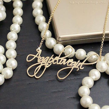 Script Lettering Name Necklace