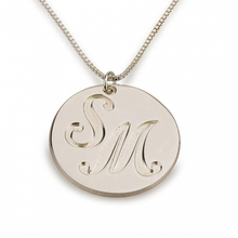Load image into Gallery viewer, ENGRAVED TWO INITIALS COIN NAME NECKLACE