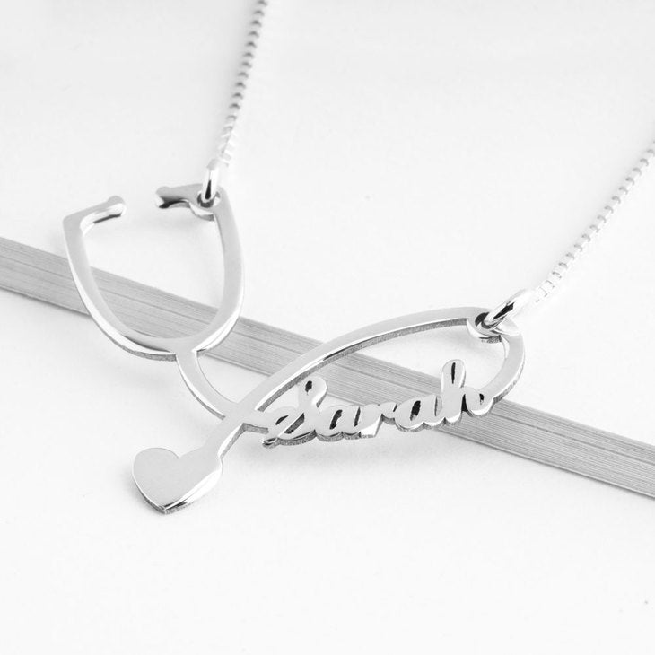 STETHOSCOPE NAME NECKLACE