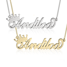 Load image into Gallery viewer, CROWN NAME NECKLACE