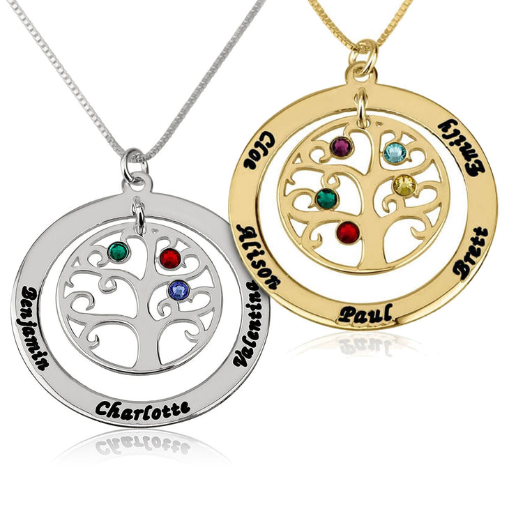 Family Tree w/ Birthstones