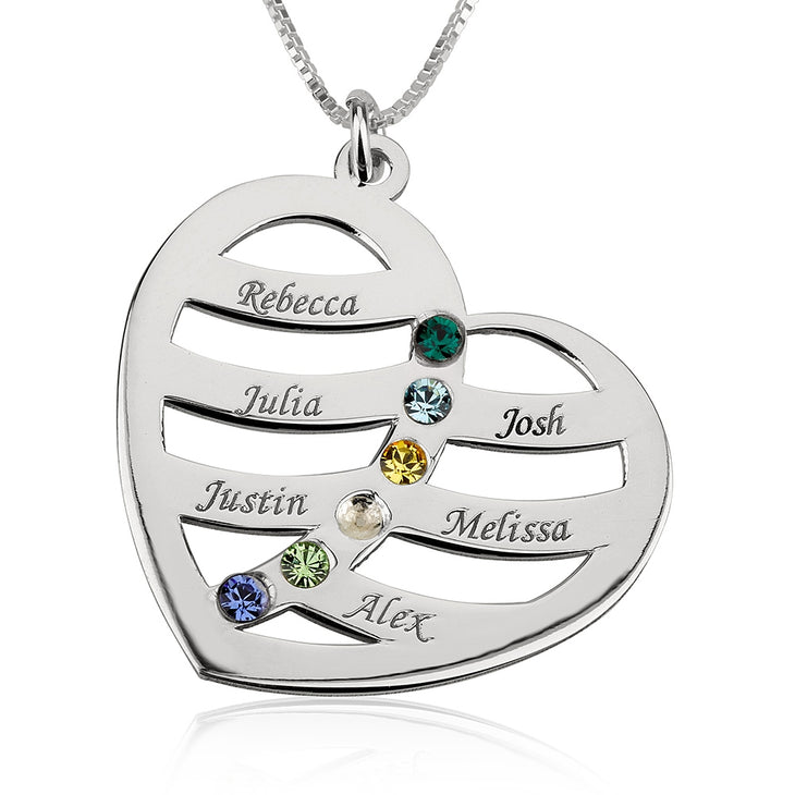 Heart w/ Birthstone Necklace