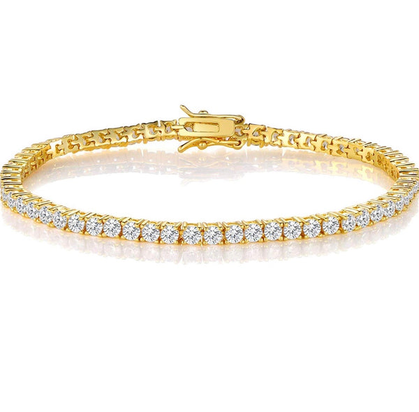 18K Yellow Gold Tennis Set