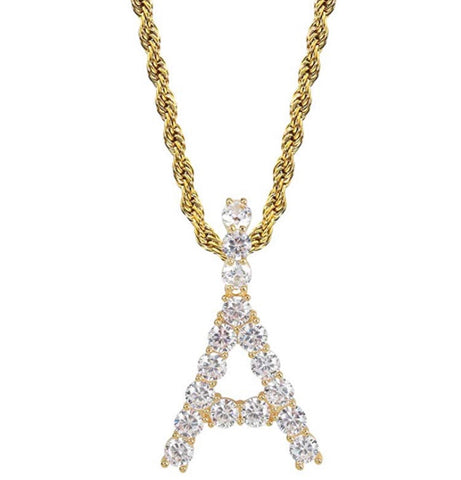 Image of Diamond Letter Pendant