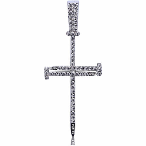 Image of Unisex Nail Cross Pendant