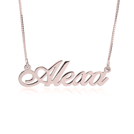 Image of Fancy Print Name Necklace