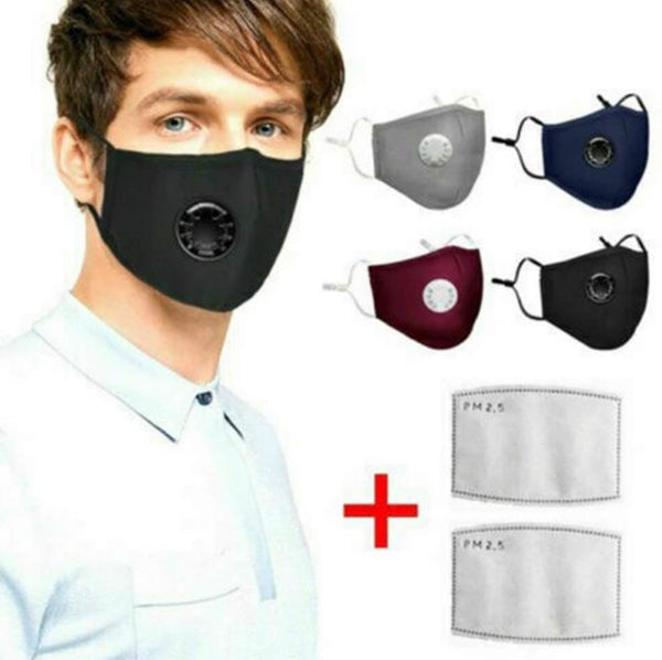 Valved Respirator Face Mask w/ *2 Filters Included*