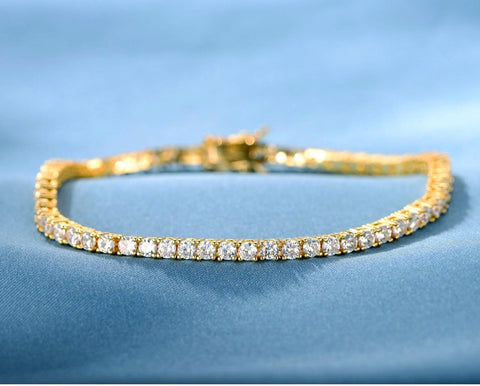 Image of 18K Yellow Gold Tennis Set