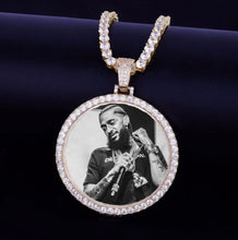 Load image into Gallery viewer, Unisex Diamond Photo Pendant