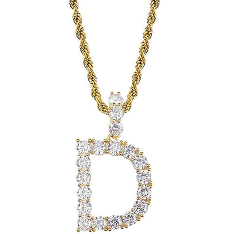 Diamond Letter Pendant