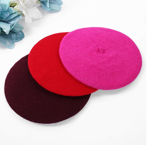Image of Classic Beret Wool Hat