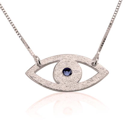Image of Evil Eye Necklace w/ Birthstone