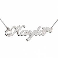 Load image into Gallery viewer, CHANCE HER NAME NECKLACE W/ HEARTS