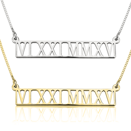 Image of Cut-Out Roman Numeral Nameplate