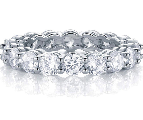 Image of 18K White Gold Tennis Set w/ Eternity Love Band