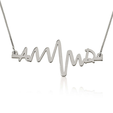 Load image into Gallery viewer, TWO INITIALS HEARTBEAT NECKLACE