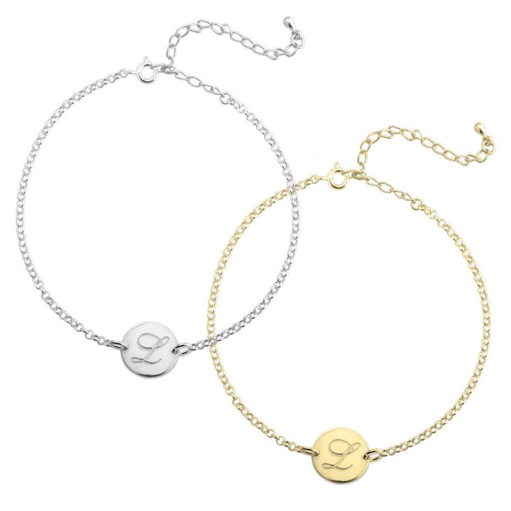 Engraved Initial Anklet
