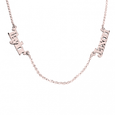 Image of Multiple Link Name Necklace