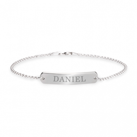 Engraved Bar Bracelet