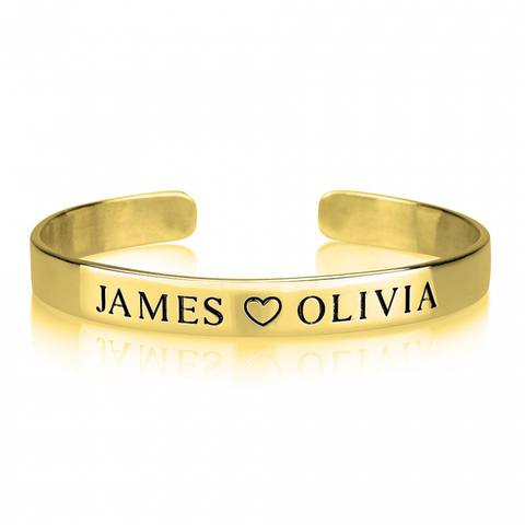 Engraved Name Cuff