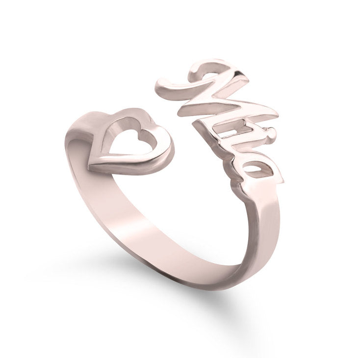 Name Ring w/ Heart