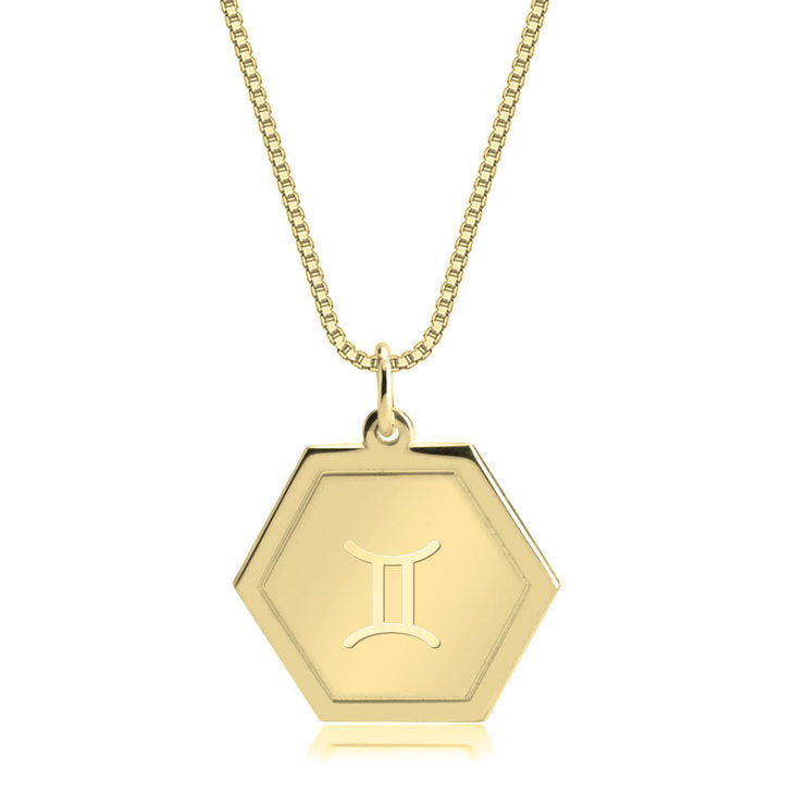 ZODIAC HEXAGON NECKLACE