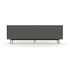 Studio Large Credenza, black carcass and leg, charcoal fronts