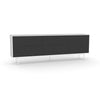 Studio Large Credenza, white carcass and leg, black fronts