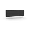 Studio Small Credenza, white carcass and leg, black fronts
