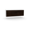Studio Small Credenza, white carcass and leg, black oak fronts