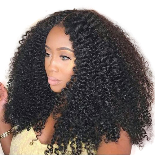 Mogolian Afro Kinky Curly Lace Front Human Hair Wigs